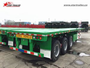40-60ton Flatbed Container Semi Trailer with Fuwa Axles pictures & photos