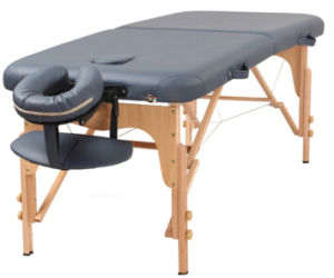 Beauty Portable Folding 3 Section Wooden Massage Table/Massege Bed pictures & photos