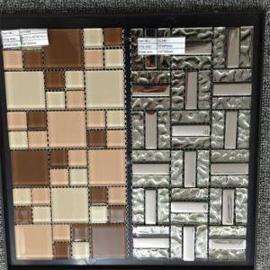 Modern Design Mix Color Glass and Metal Mosaic Tile pictures & photos