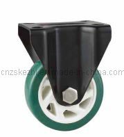 Mh5 Med-Heavy Duty Type Fixed Type Green PU Wheel Caster pictures & photos