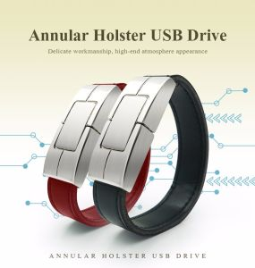 Leather Wristband USB Flash Drive 32GB 16GB 8GB 4GB Pen Drive pictures & photos