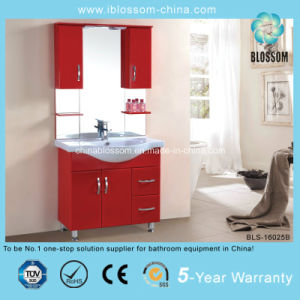 Sliver Mirror Red Color Freestanding Bathroom Vanity (BLS-16025B) pictures & photos