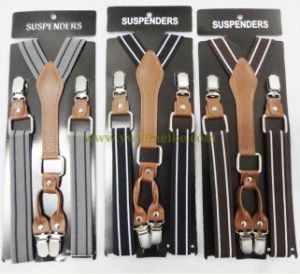 Fashion Striped Design Men′s PU Suspenders pictures & photos