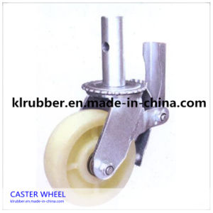 Heavy Duty Scaffold Rubber Caster Wheel with Roller Bearing pictures & photos
