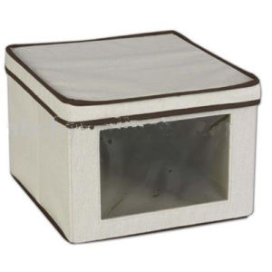New Style Home Living Non-Woven Storage Box with PVC Side Window pictures & photos