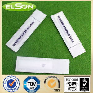Customized White Fabric Am Clothing Sourcing Label (AJ-LA-01) pictures & photos