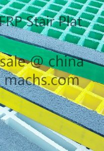 Yellow FRP Stair Treads with ISO Resin pictures & photos