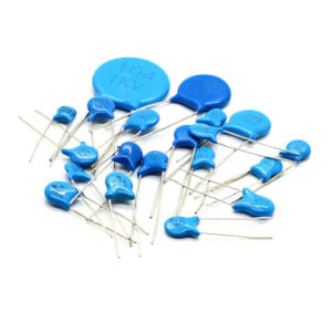 Round Blue Color High Voltage Disc Ceramic Capacitors for Audio Equipments pictures & photos
