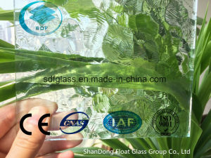 Clear Oceanic Patterned Glass with Ce, ISO (3mm TO 8mm) pictures & photos