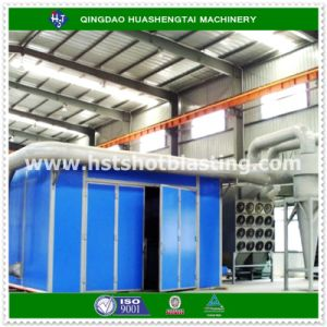 Industrial Sand Blasting Chamber with Sand Recovery System Dust Collector and Protection Suit