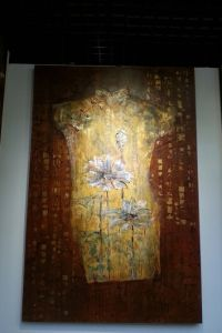 The Theme Oil Painting of Cheongsam
