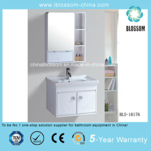 PVC Simple Wall-Hung Bathroom Cabinet, Vanity with Undercounter Basin (BLS-16176) pictures & photos
