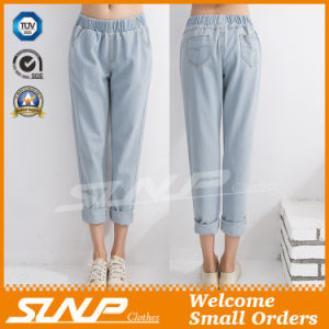 Europe Style Denim Jeans Nine Pants Costume for Woman Girls