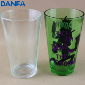 16oz (473ml) Painted Pint Glass with Custom Decals pictures & photos