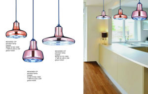 Modern Home Beautiful Fancy Glass Steel Pendant Lights (MD4090B-CP) pictures & photos