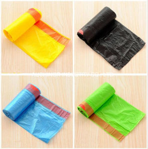 HDPE Material Side Gusset Garbage Bag on Roll pictures & photos