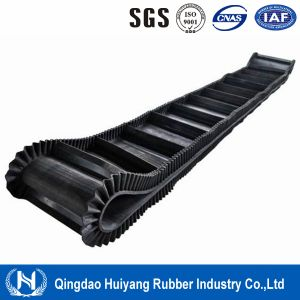 Large Angle Rubber Cleated Sidewall Conveyor Belting