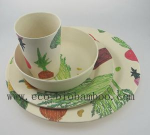 Bamboo Fiber Tableware Combination Series with Printed (BC-CS1002) pictures & photos