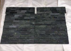 Black Slate Stacked Natural Rock Stone Panels Veneer (SMC-SCP347) pictures & photos