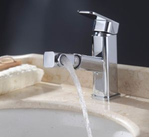 Basin Mixer Waterfall Tap Lavatory Faucet, Chrome Finish pictures & photos