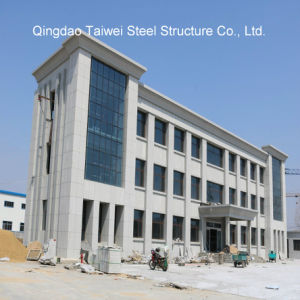 Prefabricated Steel Structure Office Building with Cement Fiber Board pictures & photos