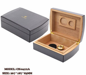 Leather Covering Cigar Wooden Storage Box pictures & photos