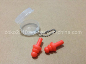 Reddish Silicon Ear Plug with Round Box pictures & photos