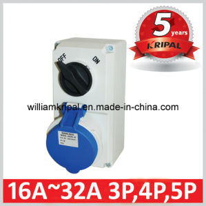 IP44 32A Switched Socket with Mechanical Interlock pictures & photos