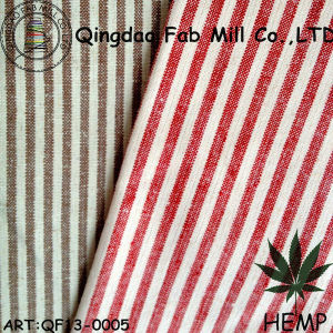 Yarn-Dyed Hemp/Organic Cotton Stripe Fabric (QF13-0005) pictures & photos