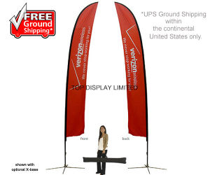 Outdoor Flying Teardrop Feather Flag Beach Banner Stand pictures & photos