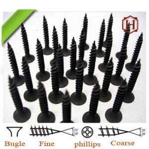 Huhao Brand Drywall Gypsum Screws Bugle Head Black Phosphate C1022A Factory pictures & photos