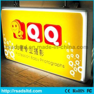 Double Side Plastic Vacuum Lighting Box Signboard pictures & photos