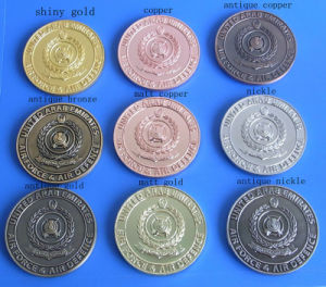 Different Plating Color Souvenir Coin (ASNYC-14) pictures & photos