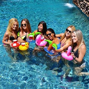 Inflatable Beverage Floats, Tin Holder, Donut Flamingos Drink Cup Holder pictures & photos