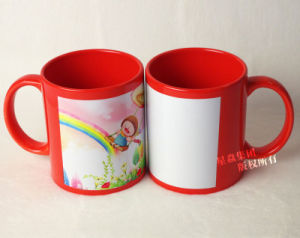 11oz Orange Ceramic Full Color Mug pictures & photos