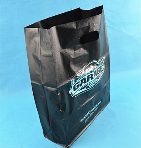 Black Punched Handle Bags with Wihte Cardboard (ML-DI-02) pictures & photos