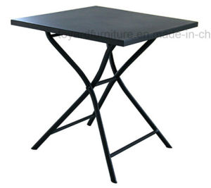 Outdoor Garden Round Folding Table with Metal Anti-Rusty Patio Camping Beach Yard Use pictures & photos
