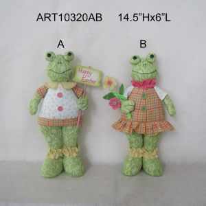 Standing Floppy Boy and Girl Frog Easter Garden Decoration pictures & photos