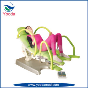Electric Control Medical Gynecology Comprehensive Table with Filth Basin pictures & photos