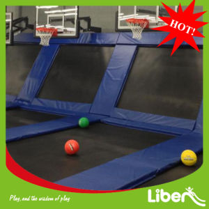 Indoor Trampoline Beds with Basketball Hoop pictures & photos