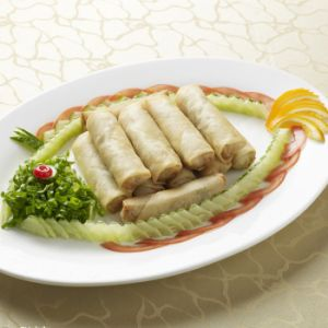 Chinese Dim Sum 100% Hand Made 40g/piece Vegetable Frozen Spring Rolls pictures & photos