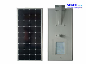 New! 80 Watt LED Integrated 130W PV Solar Street Lights pictures & photos