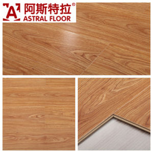 12mm High Gloss Laminate Flooring Am5505 (U-Groove) pictures & photos