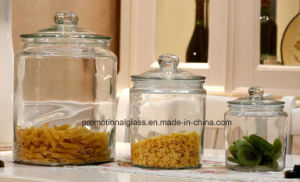 Dome Lid Stype Large Glass Jar, Storage Glass Jar pictures & photos