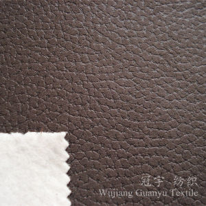 Embossed Leather Microfiber Suedette Fabric for Sofa pictures & photos