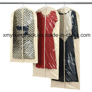 Natural Cotton and PEVA Single Suit Hanging Garment Bag pictures & photos