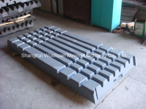 Swing Jaw and Fixed Jaw Plate for Crusher Extec C10/C12 pictures & photos