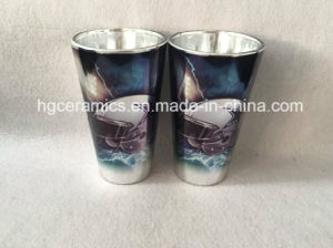 Sublimation Metalic Color Glass Mug, Sublimation Shining Silver Glass Mug pictures & photos