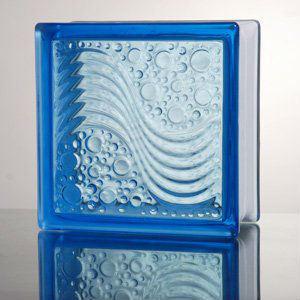 Sea Wave Blue Color Glass Brick pictures & photos