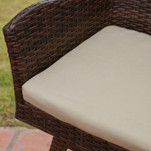 Well Furnir Outdoor Weather-Resistant PE Wicker Stool with Cushion T-030 pictures & photos